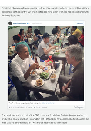 Bourdain and Obama